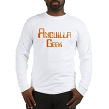 Anguilla Geek Long Sleeve T-Shirt