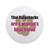 Thai Ridgebacks woman's best friend Ornament (Roun