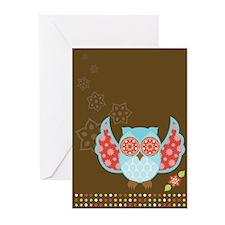 Bohemian Owl - Greeting Cards (Pk of 10)