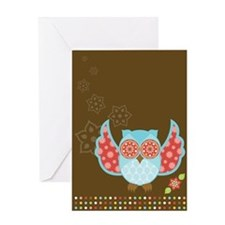Bohemian Owl - Greeting Card