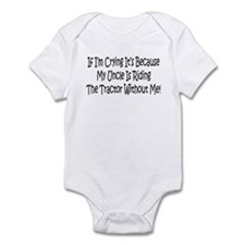 Ride My Uncles Tractor Infant Bodysuit