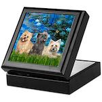 Lilies3/3 Cairn Terriers Keepsake Box