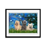 Lilies3/3 Cairn Terriers Framed Panel Print
