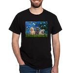 Lilies3/3 Cairn Terriers Dark T-Shirt