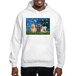 Lilies3/3 Cairn Terriers Hooded Sweatshirt