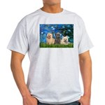 Lilies3/3 Cairn Terriers Light T-Shirt