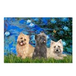 Lilies3/3 Cairn Terriers Postcards (Package of 8)
