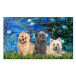 Lilies3/3 Cairn Terriers Sticker (Rectangle)