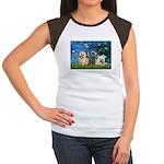 Lilies3/3 Cairn Terriers Women's Cap Sleeve T-Shir