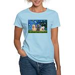 Lilies3/3 Cairn Terriers Women's Light T-Shirt