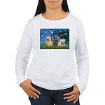 Lilies3/3 Cairn Terriers Women's Long Sleeve T-Shi