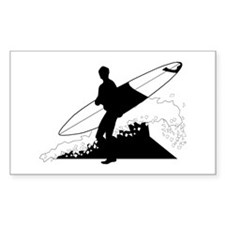 Surfing Rectangle Decal
