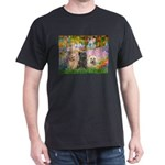 Garden/3 Cairn Terriers Dark T-Shirt