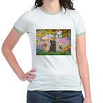Garden/3 Cairn Terriers Jr. Ringer T-Shirt