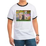 Garden/3 Cairn Terriers Ringer T