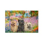 Garden/3 Cairn Terriers Rectangle Magnet