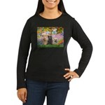 Garden/3 Cairn Terriers Women's Long Sleeve Dark T