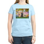 Garden/3 Cairn Terriers Women's Light T-Shirt