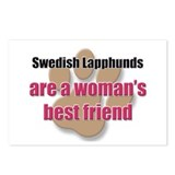 Swedish Lapphunds woman's best friend Postcards (P