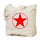 Circle Star Red Tote Bag