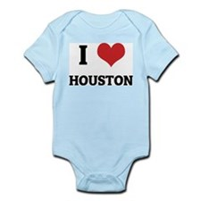 I Love Houston Infant Creeper