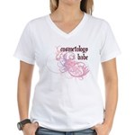 Cosmetology Babe Women's V-Neck T-Shirt