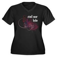 Civil War Babe Women's Plus Size V-Neck Dark T-Shi