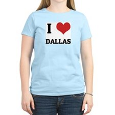 I Love Dallas Women's Pink T-Shirt