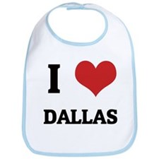 I Love Dallas Bib