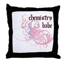 Chemistry Babe Throw Pillow