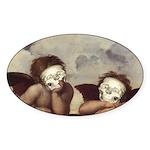 Raphael's Cherubs Oval Sticker (10 pk)