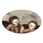 Raphael's Cherubs Oval Sticker