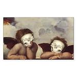 Raphael's Cherubs Rectangle Sticker