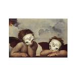 Raphael's Cherubs Rectangle Magnet (100 pack)