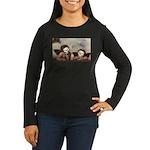 Raphael's Cherubs Women's Long Sleeve Dark T-Shirt