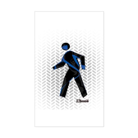 Graphic Crosswalk Person Rectangle Sticker