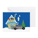 Santas Ratrod Christmas Greeting Cards (Pk of 20)