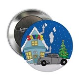 "Santas Ratrod Christmas 2.25"" Button (100 pack)"