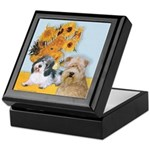 Sunflowers/PBGV8+Wheaten8 Keepsake Box