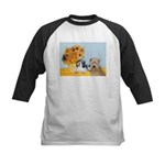 Sunflowers/PBGV8+Wheaten8 Kids Baseball Jersey