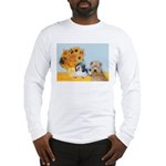 Sunflowers/PBGV8+Wheaten8 Long Sleeve T-Shirt