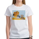 Sunflowers/PBGV8+Wheaten8 Women's T-Shirt