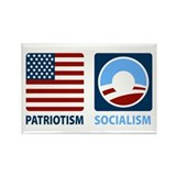 Patriotism or Socialism Rectangle Magnet