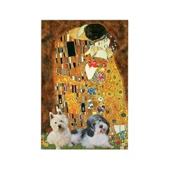 KISS/PBGV8+Westie1 Rectangle Magnet (100 pack)