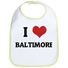 I Love Baltimore Bib