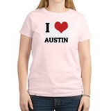 I Love Austin Women's Pink T-Shirt