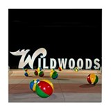 Wildwoods Sign in Wildwood NJ - Tile Coaster