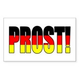 Prost! Oktoberfest Rectangle Decal