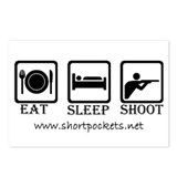 "ShortPockets ""Eat, Sleep, Shoot"" Postcards"