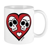 Day of the Dead Love Skulls Small Mug